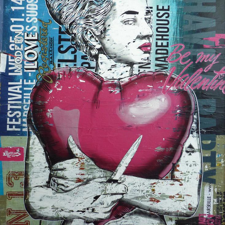 Indoor - 2014 - Toiles Canvas - Be my Valentine