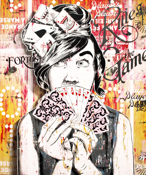 Indoor - 2014 - Toiles Canvas - Don't Gamble with Love