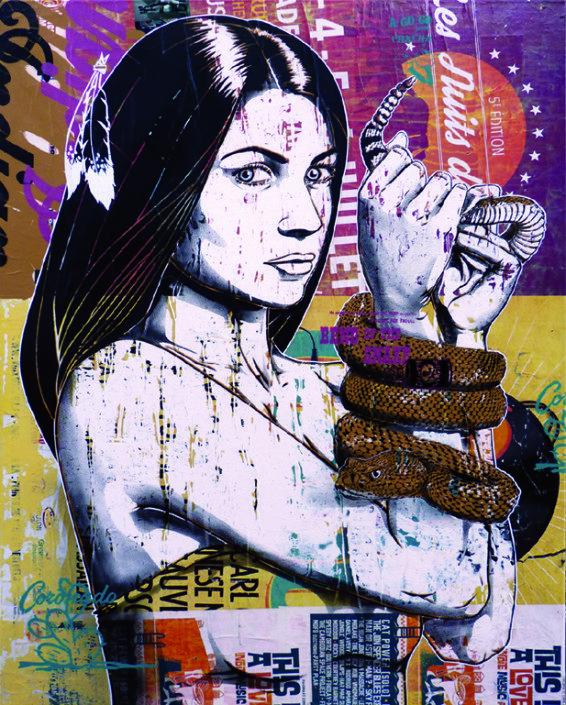 Indoor - 2015 - Canvas - Dans la main du Serpent