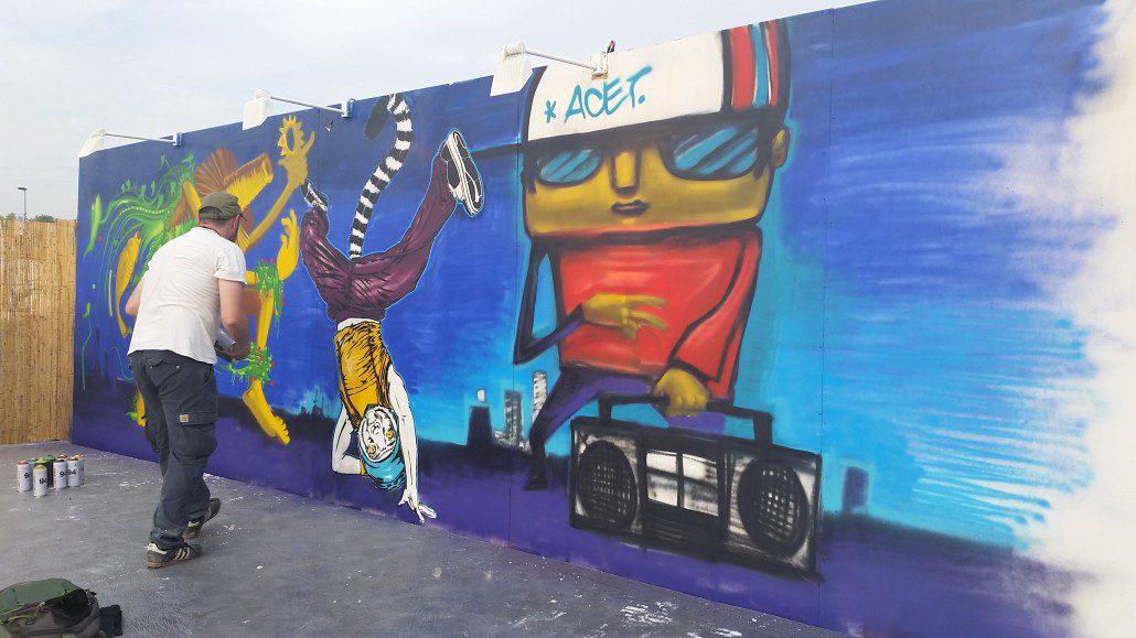 News - Outdoor - Street Art by Le Mur @ Rock En Seine 2016 - Work in Progress