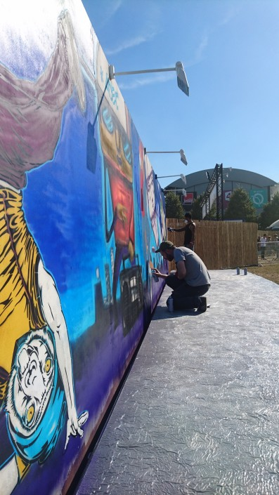News - Outdoor - Street Art by Le Mur @ Rock en Seine 2016 - Work in Progress 2