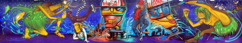 News - Outdoor - Street Art by Le Mur @ Rock en Seine 2016 - Fresque