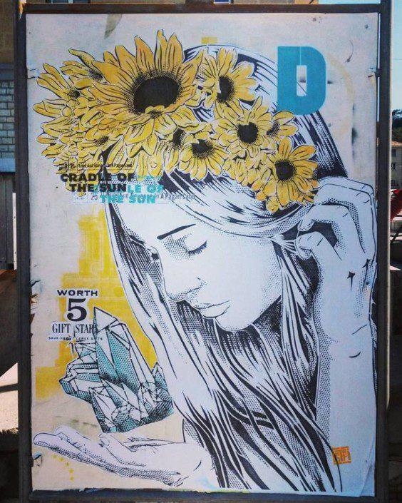 News - Outdoor - Festival de Street Art @ Sisteron - Août 2016 - L'offrande au crépuscule