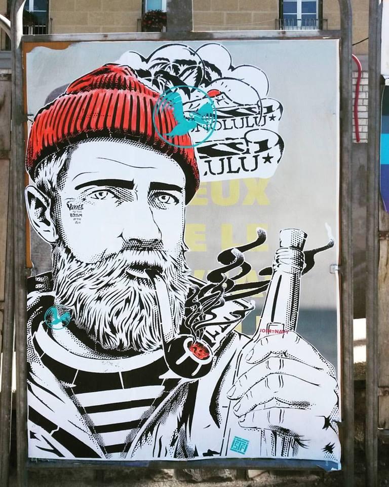 News - Outdoor - Festival de Street Art @ Sisteron - Août 2016 - Message in a Bottle