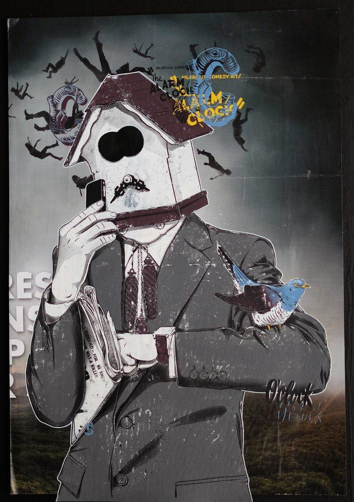 2016 - Indoor - La Mystification du Temps - Pochoir sur affiche