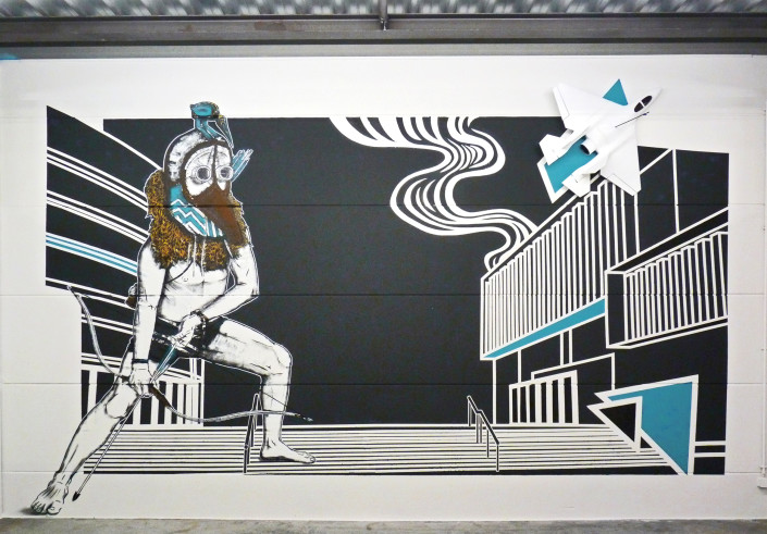 news-2016-colab-gallery-exposition-welcome-back-2-street-art-stephane-moscato-fresque-the-last-hunter