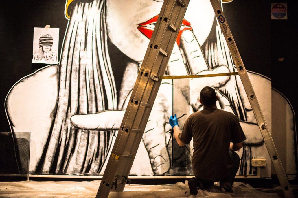 News 2017 -Exposition Hors Cadre - Stéphane Moscato - STF - Projection privée work in progress - Crédit Mathieu Prat
