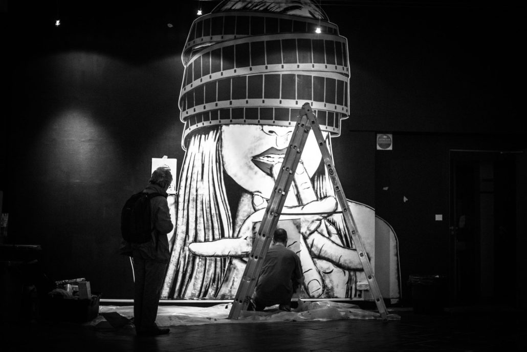 News - Outdoor 2017 -Exposition hors cadre - Projection privée work in progress - Crédit Mathieu Prat