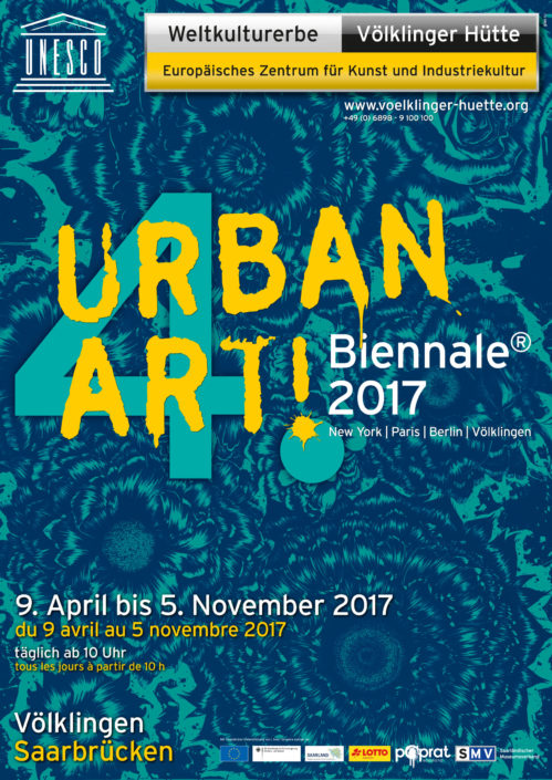 News 2017 - UrbanArt Biennale 2017 - Völklinger Hütte - Flyer