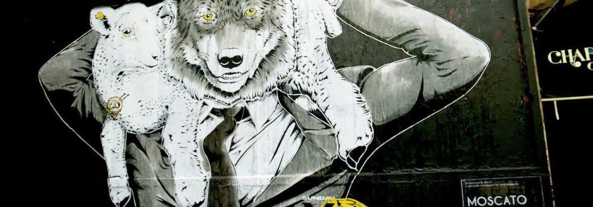 News - Outdoor - 2017 - Le Mur Oberkampf - Le loup et l'agneau - Street Art