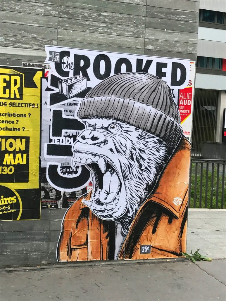 Outdoor - 2017 - Kingkong Frustration - Collage - Paris