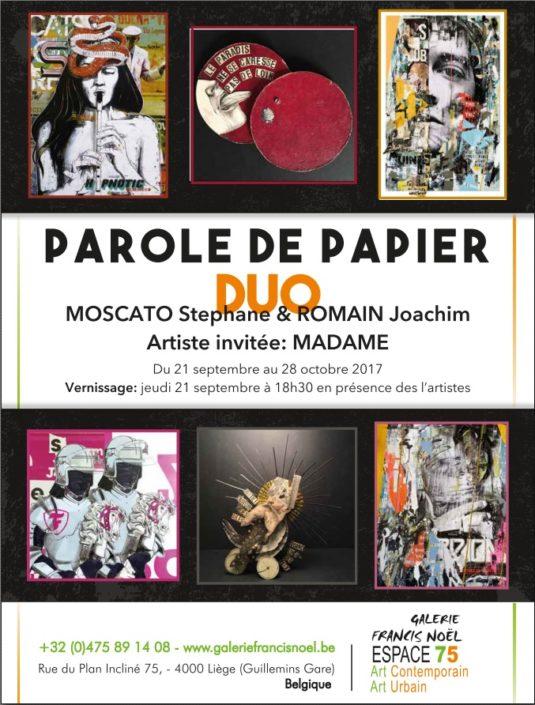 News 2017 - Exposition parole de papier - Espace 75 @ Galerie Francis Noël