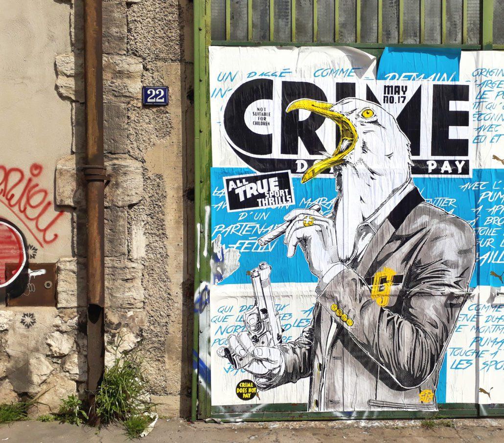 Outdoor - 2017 - Le crie du Gabian - Collage - Marseille quartiers nord
