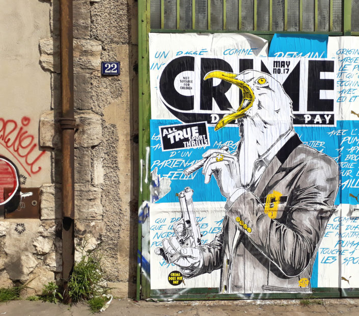 Outdoor - 2017 - Le crie du Gabian - Collage - Marseille quartiers nord