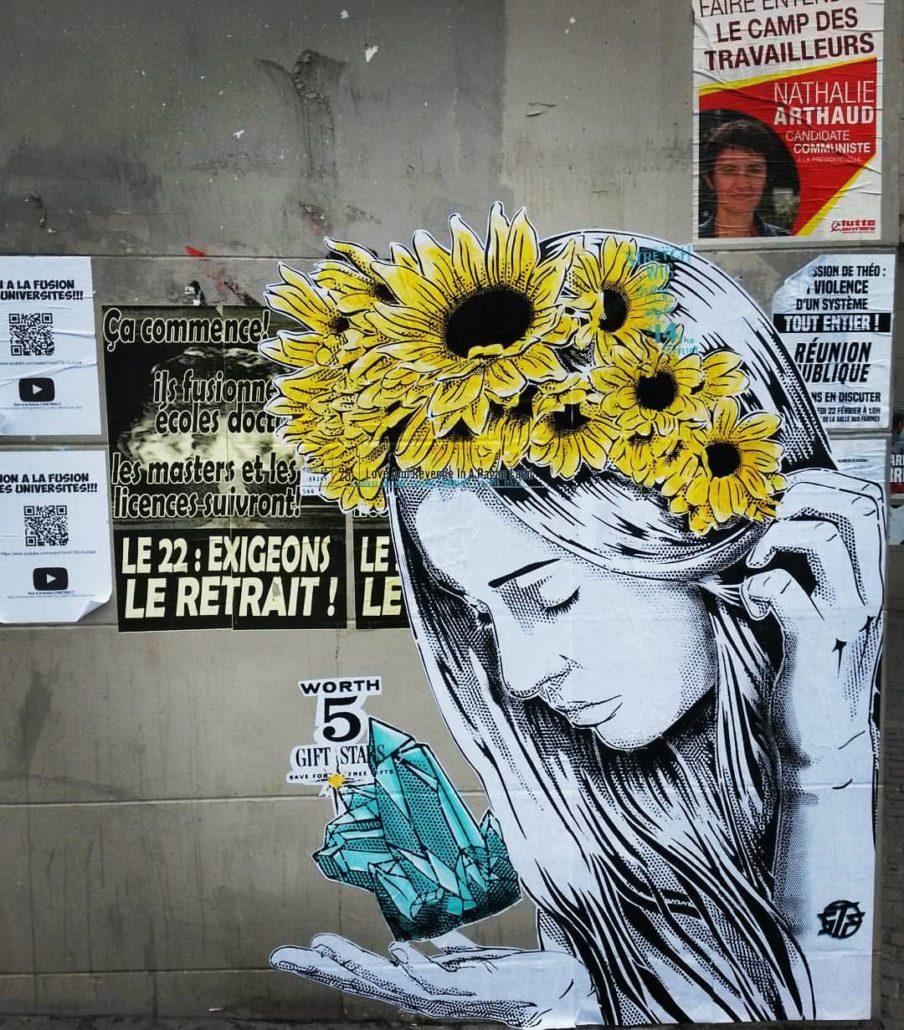Outdoor - 2017 - L'offrande au Crépuscule - Collage - Paris