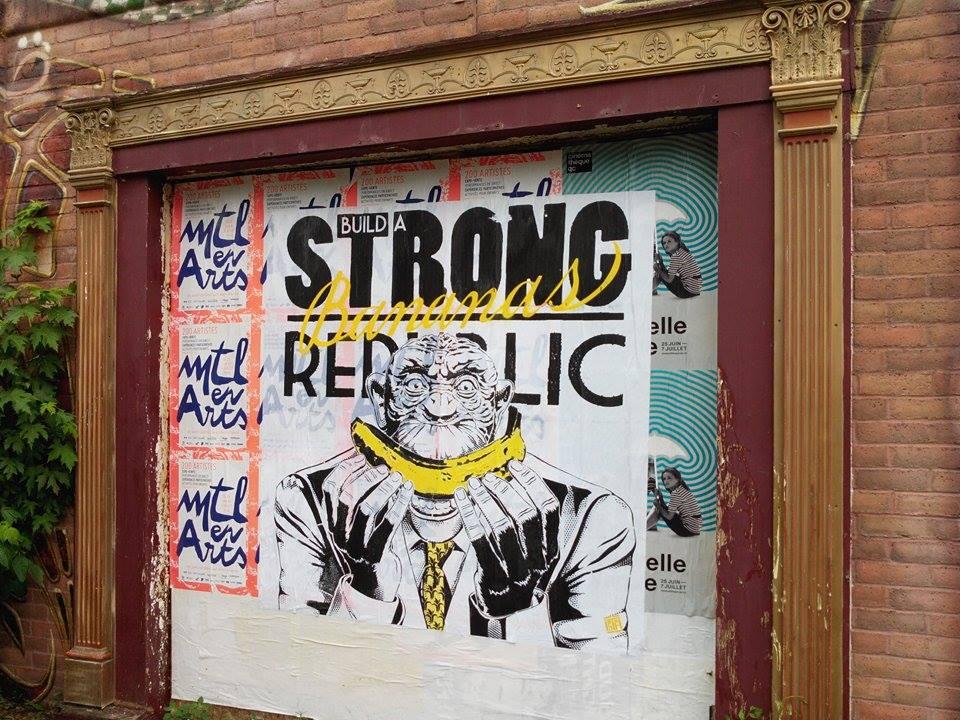 Outdoor - 2016 - Montreal - Strong banana republic - Collage