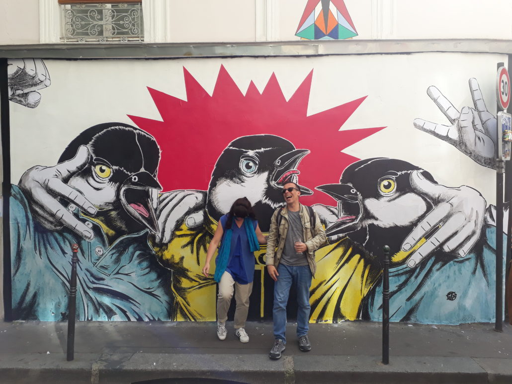 news - 2018 - Mur - If the tits are united - Stephane Moscato - Galerue - Les mésanges bistrot