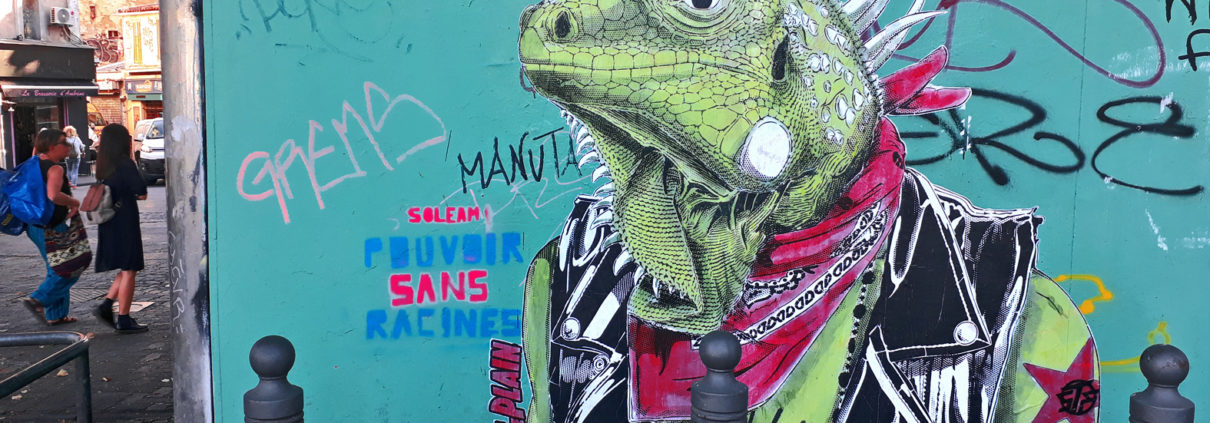 news-2018-stephane-moscato-collage-iguane-La plaine-marseille-fiesta des suds